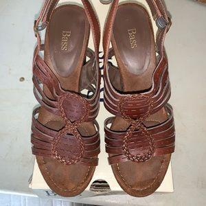 Brown chunky heel